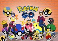 Pokemon gehen stock abbildung