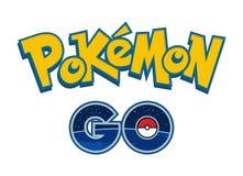 Pokemon gehen Logovektorillustration des Telefonspiels