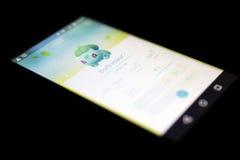 Pokemon gehen Spiel auf Schwarzem Lizenzfreies Stockfoto
