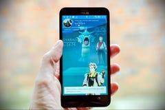 Pokemon gehen Spieler Lizenzfreie Stockfotografie