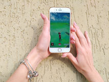 Pokemon Go application Stock Photography