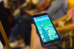 Pokemon Go application game Stock Photo