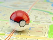 Pokemon go, augmented reality mobile game logo royalty free illustration