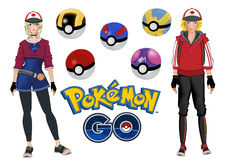 Pokemon go Royalty Free Stock Image