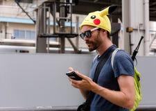 Pokemon Go Catcher stock photography