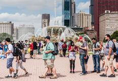 Pokemon Go Fest - Chicago, IL. The first ever Pokémon Go Fest set in Chicago, Illinois to celebrate the one-year anniversary of the mobile video game, gets royalty free stock photos