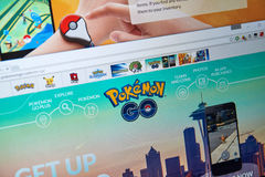Pokemon Go home page Royalty Free Stock Photo