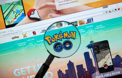 Pokemon Go home page Royalty Free Stock Photography
