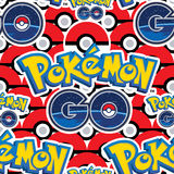 Pokemon Go many balls seamless pattern Royalty Free Stock Image