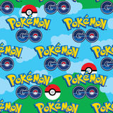 Pokemon Go sky seamless pattern Stock Photos