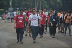 Pokemon Go trainer in Indonesia stock photos
