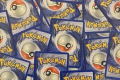 Pokemon handlarskich kart tło Obrazy Royalty Free