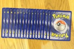 Pokemon handlarskich kart tło Zdjęcie Stock