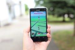 Pokemon iść app Zdjęcie Royalty Free