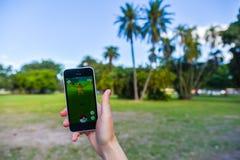 Pokemon iść app Obrazy Stock