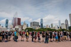 Pokemon Iść Fest - Chicago, IL obrazy royalty free