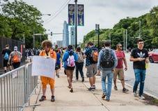 Pokemon Iść Fest - Chicago, IL obraz royalty free