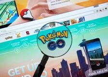 Pokemon Iść strona domowa Zdjęcie Stock