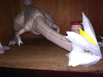 Pokemon papercraft Arkivbild