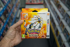 Pokemon solvideogame Arkivfoto