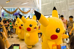 Pokemon Together in Bangkok,thailand Royalty Free Stock Photography