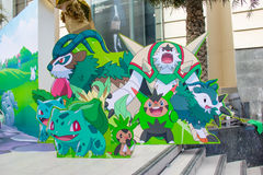 Pokemon Together in Bangkok,thailand Royalty Free Stock Image