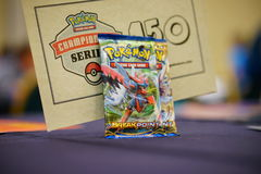 Pokemon tournament table Royalty Free Stock Photo