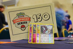 Pokemon tournament table Royalty Free Stock Photography