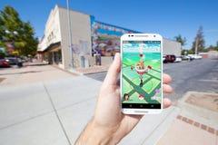 Pokemon VA mappa del gioco in una regolazione commerciale Fotografie Stock Libere da Diritti