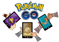 Pokemon vai ilustração stock