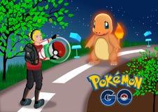 Pokemon vai ilustração do vetor