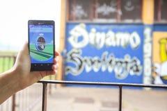 Pokemon vai app Imagens de Stock