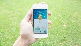 Pokemon vont application Photo libre de droits