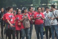 Pokemon vont entraîneur en Indonésie Photos libres de droits