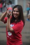 Pokemon vont entraîneur en Indonésie Photo libre de droits