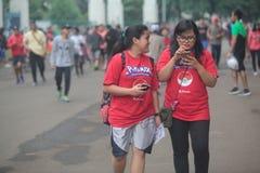 Pokemon vont entraîneur en Indonésie Photos stock