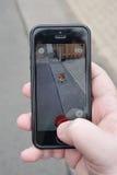 Pokemon vont sur le smartphone photo stock
