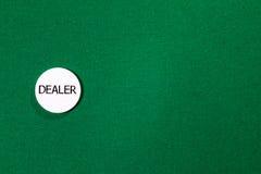 Pokeråterförsäljarechip fotografering för bildbyråer