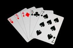 poker źle ręka zdjęcia royalty free