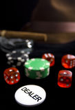 Poker. Conceptual image with poker stuff Royalty Free Stock Photo