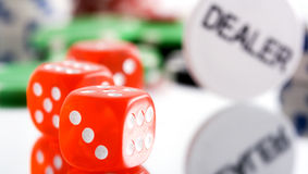 Poker. Conceptual poker image on a white background Stock Image