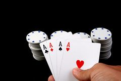 Poker Fotografie Stock Libere da Diritti