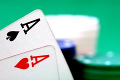 Poker. The most popular play the poker Stock Images