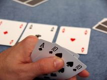 poker - 2 cards Royalty Free Stock Image