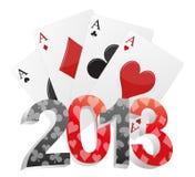 poker 2013 Royaltyfri Foto