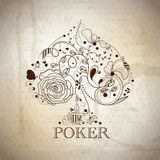 Poker. Vintage vector hand drawn poker pattern royalty free illustration