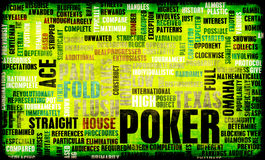 Poker. Game of Texas Hold'em Rules and Concept stock illustration