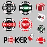 Poker stock illustrationer