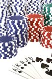 Poker. Chips Stock Photography