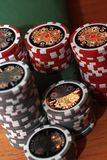 Poker 4. Poker chips in red and grey Stock Photography
